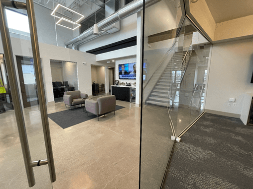 modern office with open layout