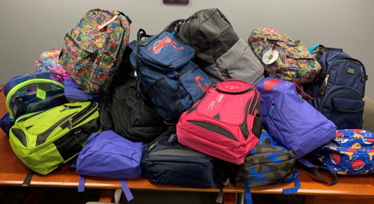 Backpack Pile Photo